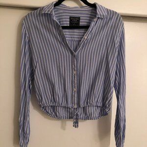A&F Striped Blouse